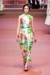 MFW Autumn:Winter 2015 - Dolce & Gabbana - Viva La Mamma - child's drawing dress 4