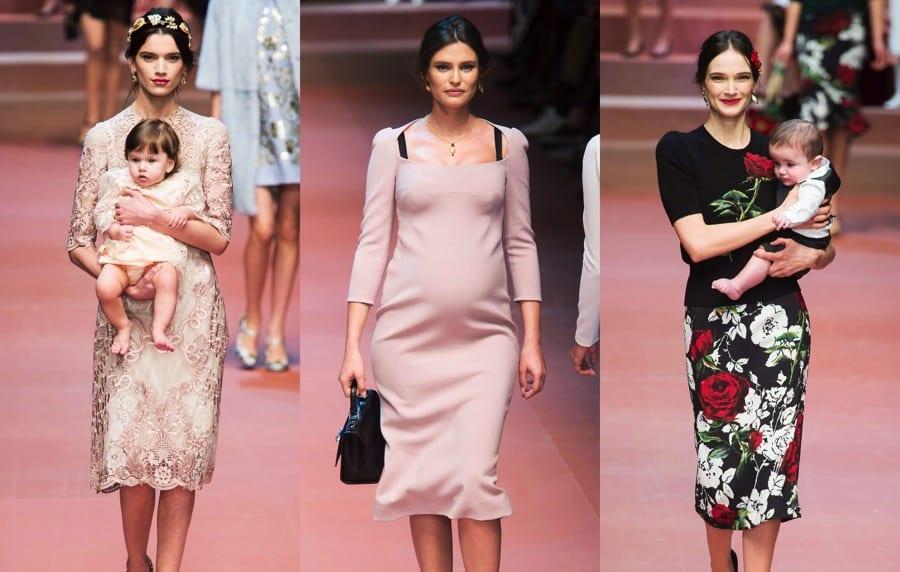 MFW Autumn Winter 2015 - Dolce   Gabbana - Viva La Mamma - collage ... 0e08f7f62b8
