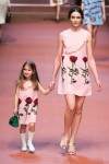 MFW Autumn:Winter 2015 - Dolce & Gabbana - Viva La Mamma - model and child in matching dresses
