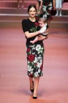 MFW Autumn:Winter 2015 - Dolce & Gabbana - Viva La Mamma - mom and baby