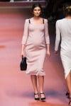 MFW Autumn:Winter 2015 - Dolce & Gabbana - pregnant model