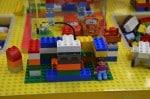 Magic of Play Lego Duplo Mall Booth - blocks on display