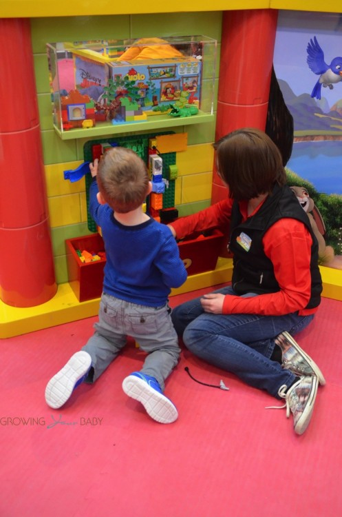 Magic of Play Lego Duplo Mall Booth - building together