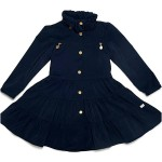 Oil and Water Navy Twirl Coat
