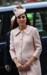 Pregnant Duchess of Cambridge Kate Middleton arrives at the annual Commonwealth Observance