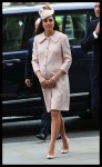 Pregnant Duchess of Cambridge Kate Middleton arrives at the annual Commonwealth Observance 2