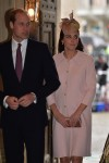 Pregnant Duchess of Cambridge Kate Middleton with Prince William at the annual Commonwealth Observance