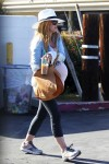 Pregnant Isla Fisher out in LA