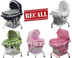 RECALL- 13,000  Dream on Me 2-in-1 Bassinet to Cradle Due to Fall and Suffocation Hazards