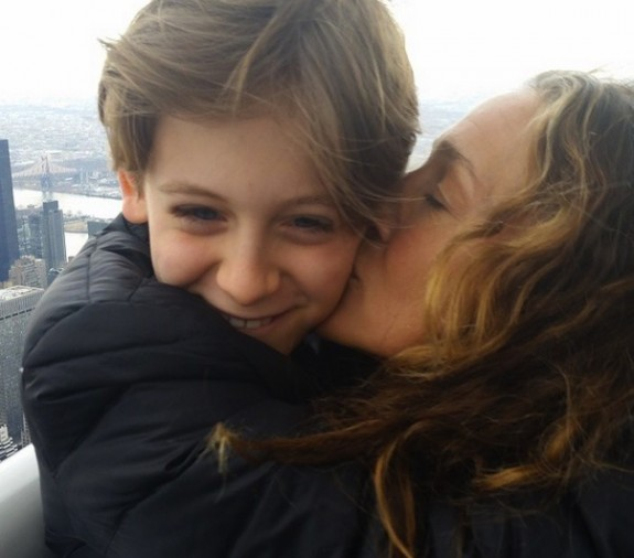Sarah Jessica Parker Empire State Building with son James