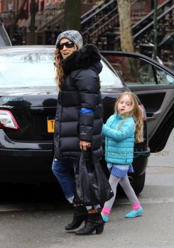 Sarah Jessica out with daughter Marion Broderick