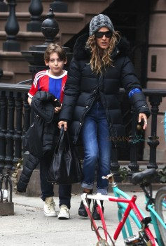 Sarah Jessica out with son James Broderick