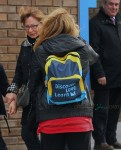Shakira picks up her son Milan Pique from school