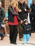 Shakira picks up her son Milan from school
