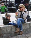 Sienna Miller shares a sweet treat with her daughter Marlowe