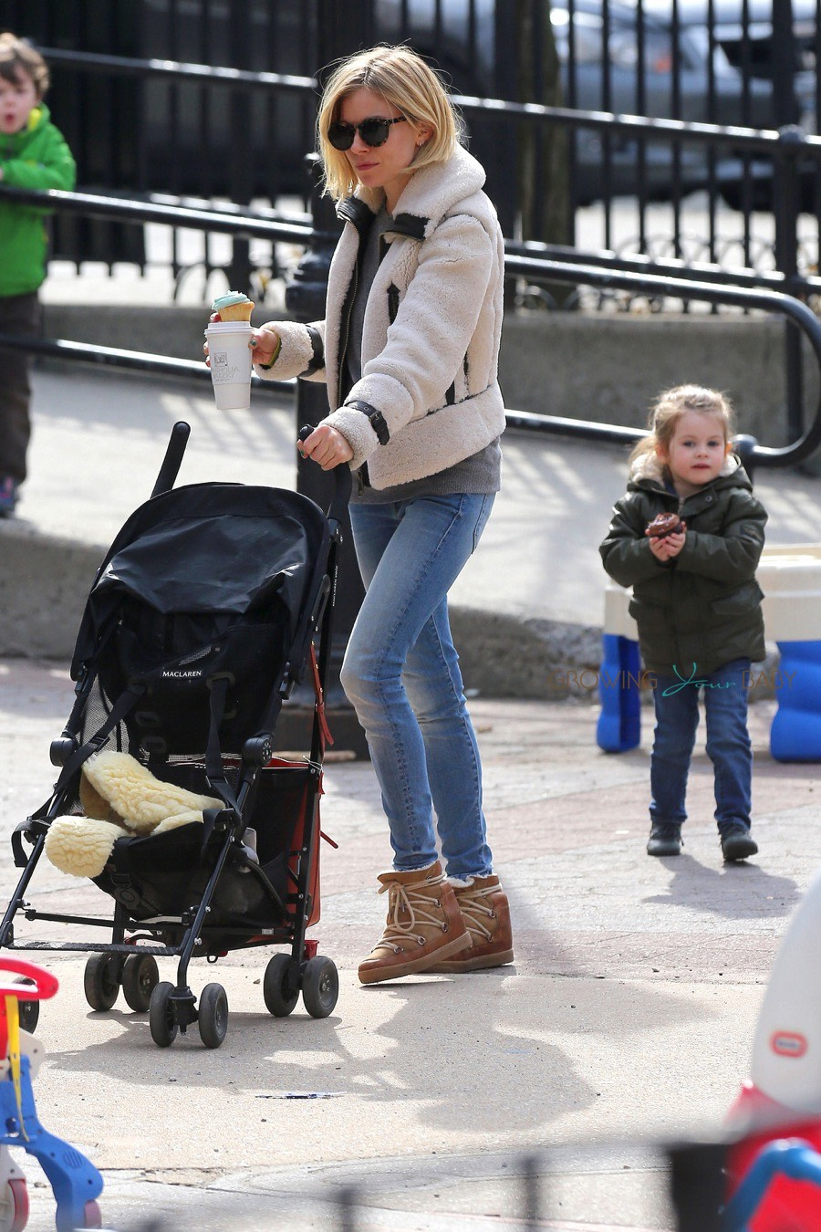 sienna miller steps out with her daughter marlowe