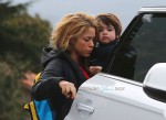 Singer Shakira doing the school run With son Milan