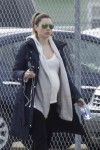 Heavily Pregnant Jessica Biel on the set of her new movie 'The Devil and The Deep Blue Sea'