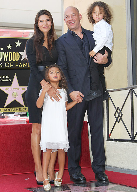 Vin Diesel, Paloma Jimenez and kids Hania nd Vincent