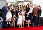 Vince Vaughn with family and friends at his hand and footprint ceremony in LA