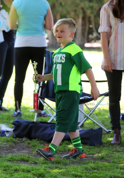 Zuma Rossdale at his soccer game
