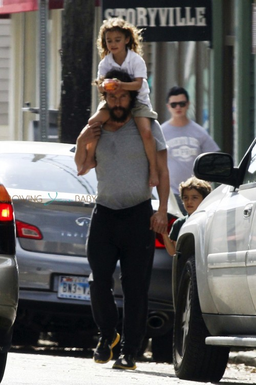 matthew McConaughey steps out with his kids Vida and Levi in New Orleans