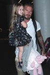 David Beckham with daughter Harper at LAX