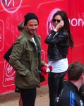 David and Victoria Beckham support son Romeo at in mini London Marathon