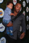 Donald Faison with son Rocco at The Safe Kids Day in Los Angeles