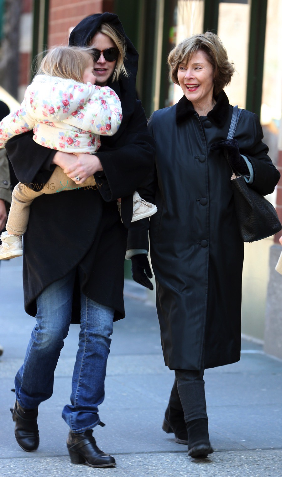 jenna bushhager out in nyc with daughter mila and mom