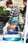 Jennifer Garner at  The Market With Sam & Seraphina!