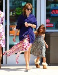 Jennifer Lopez with daughter Emme Anthony heading out on Vacation