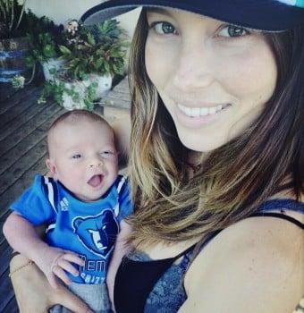 Jessica Biel with son Sila Timberlake