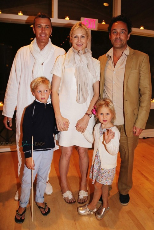 Kelly Rutherford with kids Helena and Hermes Giersch