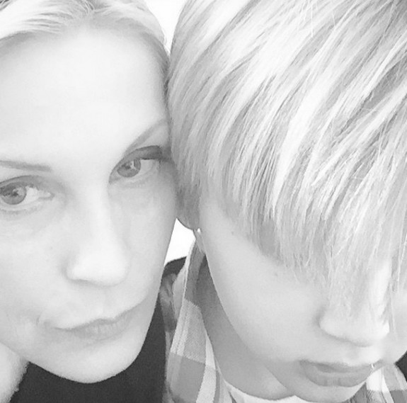 Kelly Rutherford with son Hermes Instagram