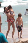 Keri Russell Plays At The Beach With Kids River and Willa