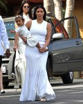 The Kardashians, Jenners, Kanye West & Tyga Go To Easter Sunday Mass