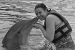 Kissing dolphin Aquaventuras Park in Puerto Vallarta