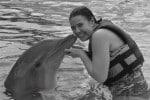 Kissing dolphin Aquaventuras Park in Puerto Vallarta