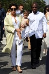 The Kardashian clan seen all dressed up in white leaving church on Easter Sunday in Calabasas