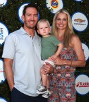 Mark-Paul Gosselaar and Catriona McGinn with son Dekker at The Safe Kids Day in Los Angeles