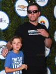 Mark Wahlberg with son Brendan at The Safe Kids Day in Los Angeles