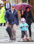 Matthew Broderick out in NYC with daughters Marion & Tabitha