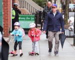 Matthew Broderick out in NYC with daughters Marion and Tabitha