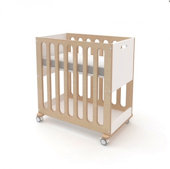 Oeuf debuts the fawn crib bassinet for Baby bed with wheels