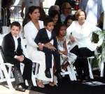Paloma Jimenez with kids Hania and Vincent Sinclair