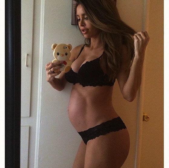 Pregnant Lingerie Model Sarah Stage