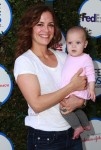 Rebecca Budig with daughter Charlotte at The Safe Kids Day in Los Angeles