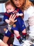 Sasha Pique at FC Barcelona vs Valencia CF game in Barcelona