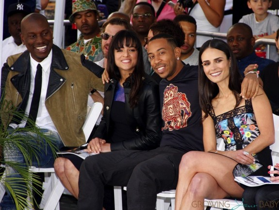 Tyrese Gibson,Michelle Rodriguez,Ludacris,Jordana Brewster at Vin Diesel's Handprint and footprint ceremony